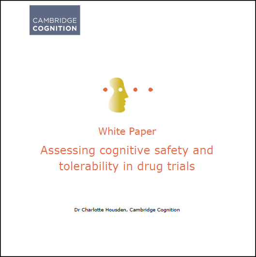 Cognitive safety and tolerability white paper
