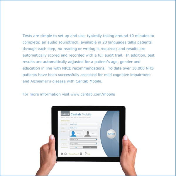 CANTAB Mobile Scientific and Clinical Review
